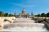 The Palau Nacional, situated in Montjuic (Barcelona)