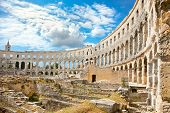 stock photo of world-famous  - Roman amphitheatre  - JPG