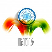 vector indian flag backgorund design