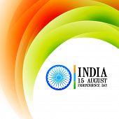 wave style indian flag background design
