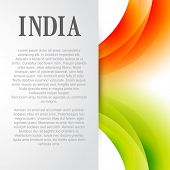 indian flag background design with space for your text