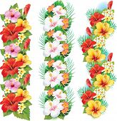 Garlands of hibiscus flowers