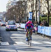 The Cyclist Palini Andrea Francesco- Paris Nice 2013 Prologue In Houilles