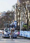 The Cyclist Keizer Martijn- Paris Nice 2013 Prologue In Houilles