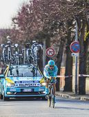 The Cyclist Maxim Iglinskiy- Paris Nice 2013 Prologue In Houilles