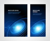 stock photo of booklet design  - Brochure business design template or banner - JPG