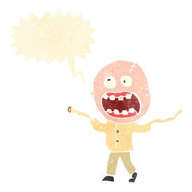 picture of madman  - retro cartoon crazy madman - JPG