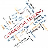 picture of lien  - Commercial Lending Word Cloud Concept angled with great terms such as loan fees business plan and more - JPG