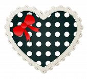 Heart Shaped Polka Dot Patch