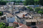 stock photo of avignon  - View on rooftops of old town of Avignon Provence France