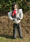 Female Scarecrow In Country Lane