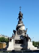 this monument is a cristobal colon statue in valladolid spain