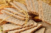 foto of hardtack  - cereal crackers and seeds - JPG