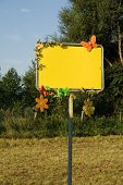 Decorated blank sign