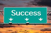 Freeway to Success Road Sign
