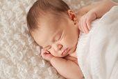 Portrait Of A Sleeping Newborn Baby