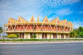 Chaktomuk Conference Hall in Phnom Penh, Cambodia.