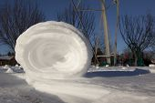 pic of natural phenomena  - Snowrollers are a rare phenomena of nature that occurs when there is the right combination of snow - JPG