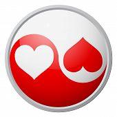 Yin-yang heart symbol