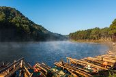Pang-oung lake is Famous Place in Maehongson Province,Thailand