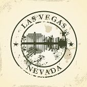 Grunge rubber stamp with Las Vegas, Nevada - vector illustration