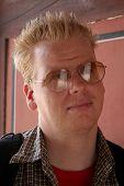 Man Wearing Sunglasses poster