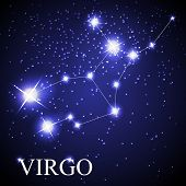 Virgo zodiac sign of the beautiful bright stars