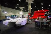 M-31 M-41 Boat On Display At The Los Angeles Boat Show On February 7, 2014 At The L.a. Convention Ce