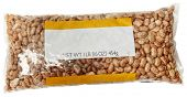 One Pound Blank Label Bag of Pinto Beans over white.