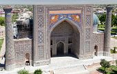 image of mosk  - View of Sher Dor Medressa  - JPG