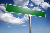 pic of road sign  - Photorealistic 3D sky - JPG