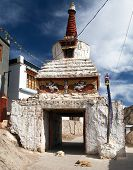 Stupa In Leh Old Town - Ladakh - Jammu And Kashmir - India