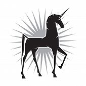 picture of ares  - Illustration of a Unicorn with one leg raised - JPG