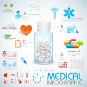 illustration of Healthcare and Medical Infographics