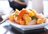 sweet and sour chicken chinese dish