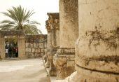 Synagogue Ruins in Capernaum,Israel