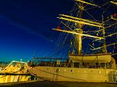 picture of tall ship  - BERGEN NORWAY  - JPG