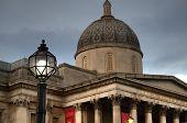 National Gallery, Trafalgar Square In London.