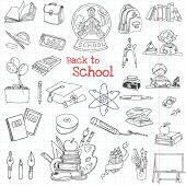 Back to School Doodles - Hand-Drawn Vector Illustration Design Elements