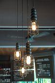 Lighting Decor In Bar, Retro Style