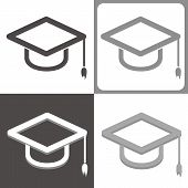 Graduate Hat Vector Icon