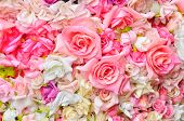 Artificial Flowers Background