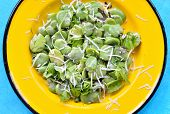 Broad Bean Salad With Hard Cheese.