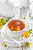 Herbal tea with hawthorn
