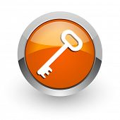 key orange glossy web icon