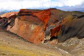 Red Crater on the top of Tongariro Volcano, Tongariro Crossing National Park - New Zealand