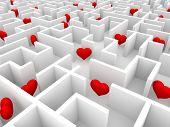 Hearts and maze