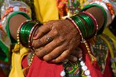 Henna On Hands , India