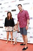 BRIDGEHAMPTON, NY-JUL 19: (L-R) Tiffani Thiessen, Harper Smith & Brady Smith attend the 6th Annual F