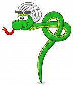Snake Practicing Yoga